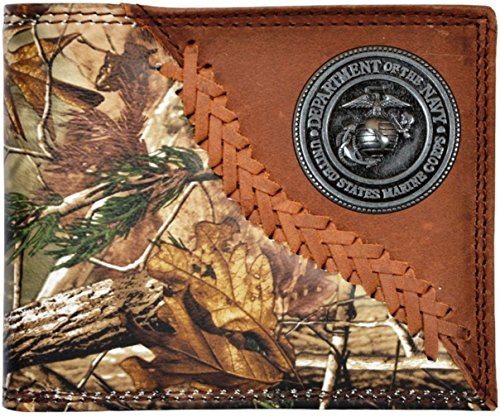 Custom 3D Belt Company U S Marines Realtree AP Camo Wallet Bi-fold Wallet