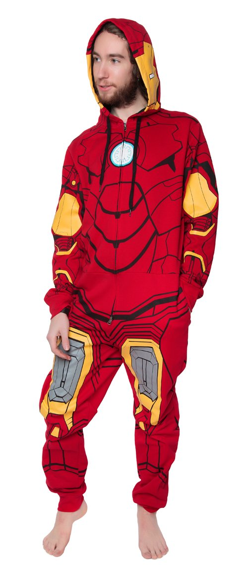 One Piece Sweatsuit - Marvel Iron Man - Zipper Costume Jumpsuit