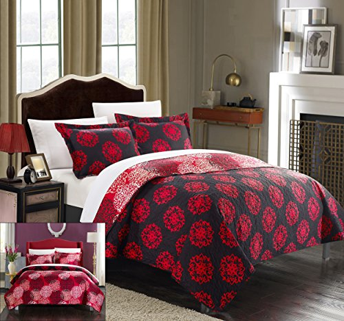Chic Home 3 Piece Kelsie Boho Inspired Reversible Print Quilt Set