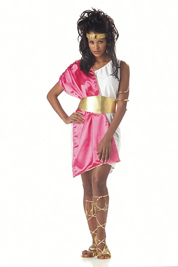 California Costumes Women's Toga Woman,White/Fuchsia,One Size Costume