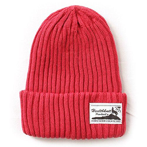 (ヘルスニット) Healthknit コットン ニット帽 フリーサイズ ニット帽子 ワッチキャップ/リブ[HEALTHKNIT-HKC113]