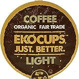EKOCUPS Organic Artisan Coffee, Light Gourmet Coffee,Light roast for Keurig K-cup single serve Brewers, 40 count