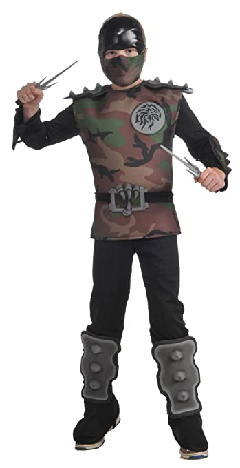 Child's Jungle Camo Ninja Costume, Medium