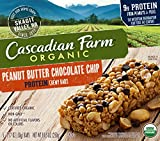 Cascadian Farm Snacks Protein Organic Chewy Granola Bars, Peanut Butter Chocolate Chip, 8.85 Ounce