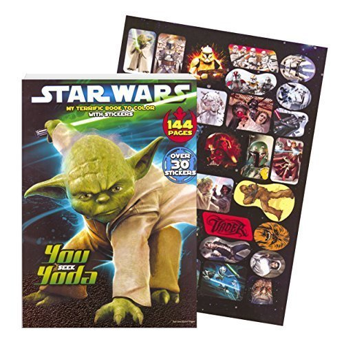 Classic Star Wars Giant Coloring Book with Stickers (144 Pages)
