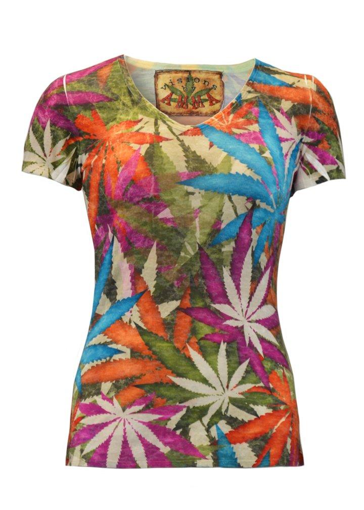 Visions by Anna Cannabis Print T-shirt for women