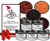 Chef Cherie's Exotic Peppers Spice Gift Set - 5 - 2 Oz. Tins