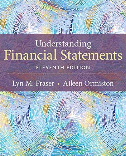 133874036 – Understanding Financial Statements (11th Edition)