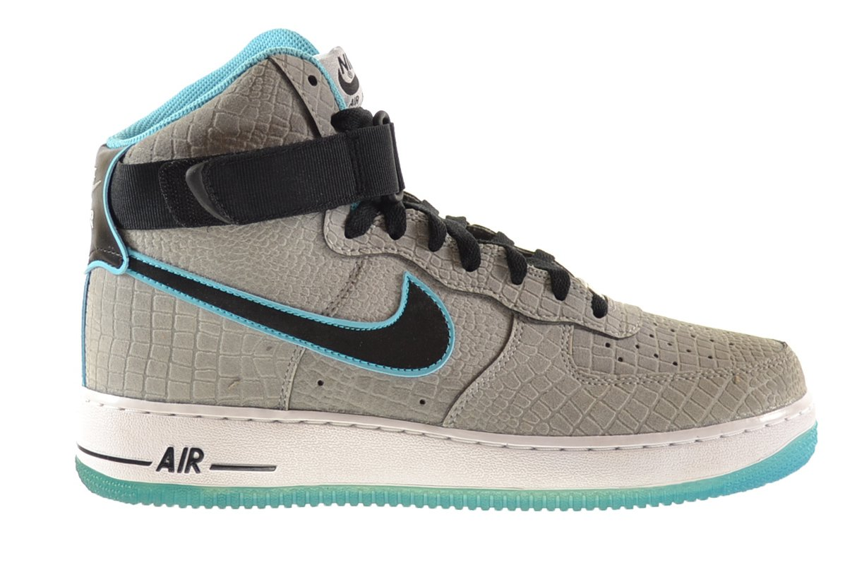 Nike Air Force 1 High Comfort Premium Men's Shoes Reflect Silver/Black-Gamma Blue 555107-002