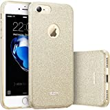 Custodia iPhone 7 Silicone,Case Cover per iPhone 7 in Silicone,ESR iPhone 7 Glitter Bling Case Cover iPhone 7 / 7S (Champagne Gold)