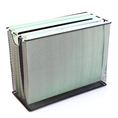 U-Brands-Mesh-Steel-Desktop-Hanging-File-Holder-Letter-Size-124-x-975-x-55-Black