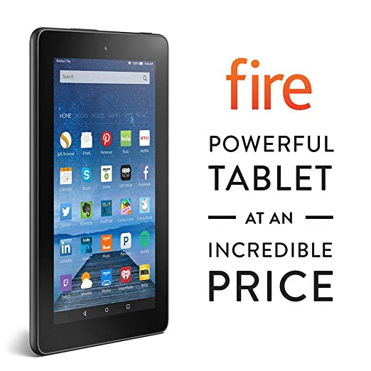 """Fire, 7"""" Display, Wi-Fi, 8 GB - Includes Special Offers, Black"""