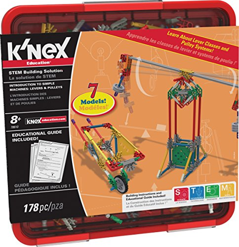 K'NEX Education - Intro to Simple Machines: Levers and Pulleys Set - 178 Pieces - For Grades 3-5 - Construction Education Toy