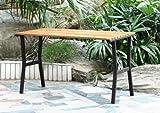 Gartentisch Granada, Hartholz+Metall ~ teak