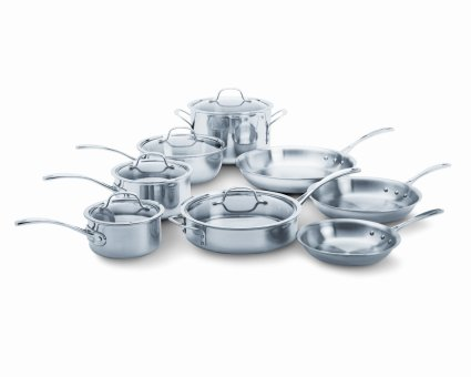 Calphalon Tri-Ply Stainless Steel Cookware Set, 13-Piece Set