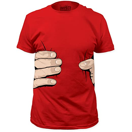 Impact Originals Giant Hand Mens Red T-shirt S