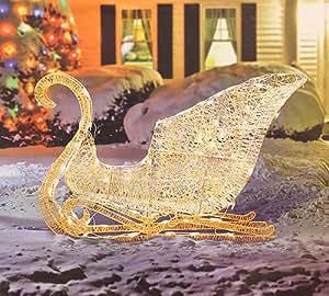 "Amazon.com : 41"" Elegant White Glittering Lighted ... on Backyard Decorations Amazon id=77880"