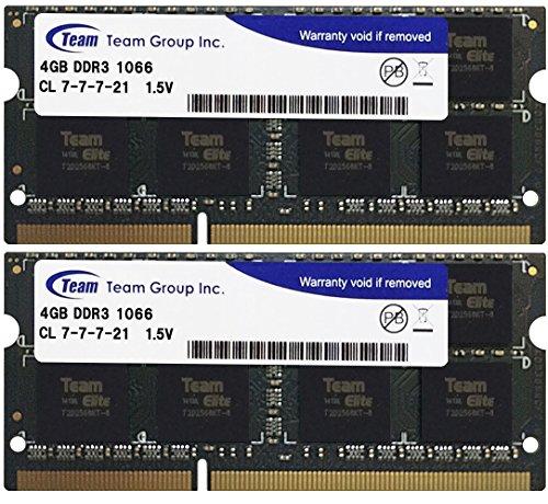 Team ノートPC用メモリ SO-DIMM-DDR3 永久保証 ECOパッケージ (1066Mhz PC3-8500 1.5V 4GBx2)