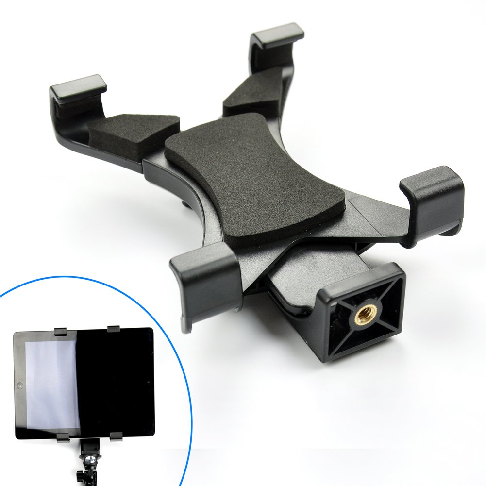 Amazon.com : Accmor Tablet Tripod Adapter We use this to mount our iPads on a tripod (we use our iPads for most of our live video streaming.)