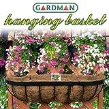 英国 ガードマン(GARDMAN) 壁掛けハンギングバスケット 60cm【ヤシマット、S字フック付き】