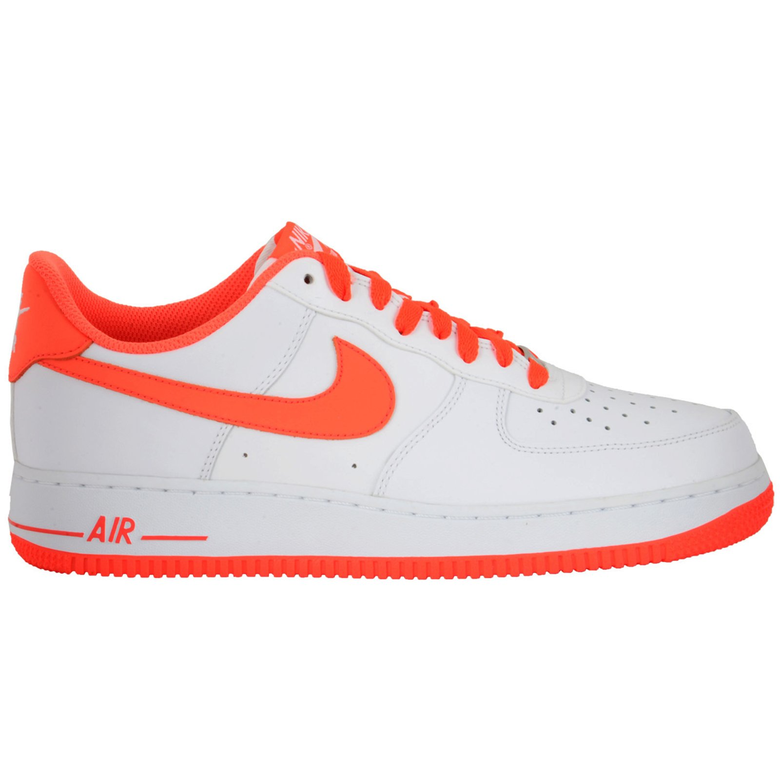 Nike Air Force 1 Mens Basketball Shoes 488298-145 Color: WHITE/TURF ORANGE