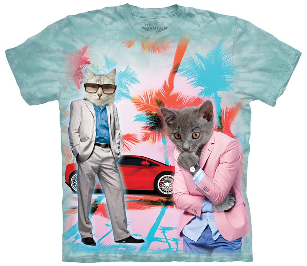 Miami Vice Undercover Kittens Manimal T-shirt by The Mountain - Adult Sizes