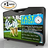 [#1 Rated Electric Dog Fence] Invisible and Wireless Containment System is Totally Safe, Effective & Reliable for Pets of All Sizes - Easy Installation for Instant Results in Yards Large & Small