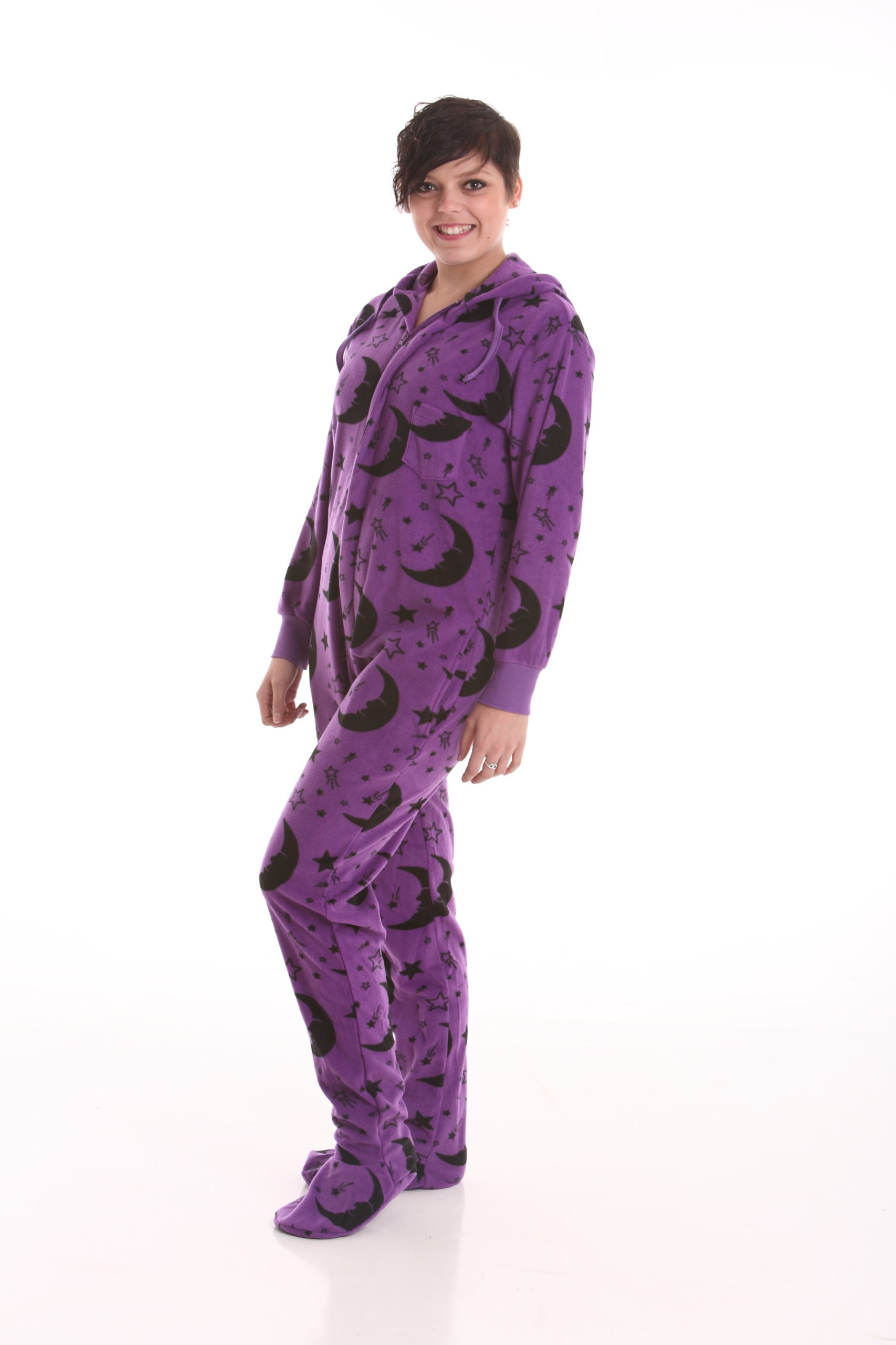 Wizard Footed Pajamas - Adult Footie Jumpsuit XS - XXLarge-Size on Height