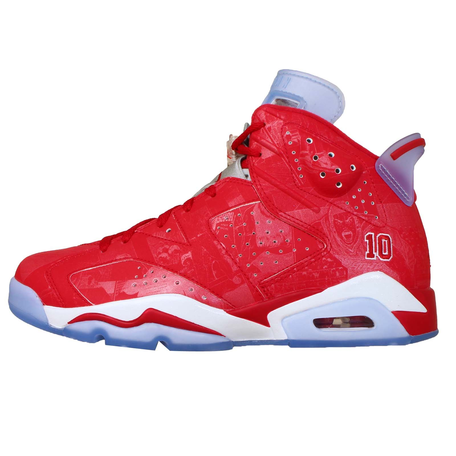 Nike Mens Air Jordan 6 Retro X Slam Dunk Varsity Red-White Leather Basketball Shoes