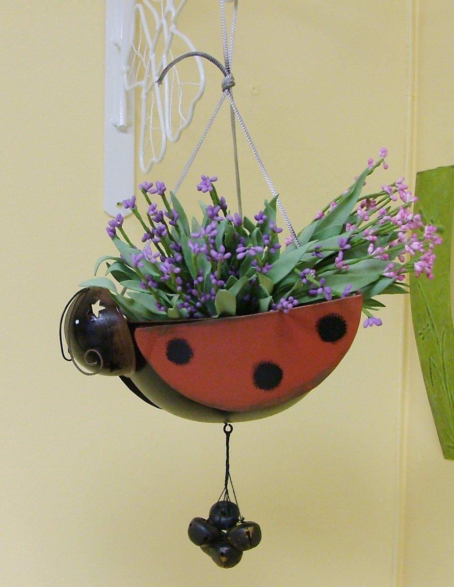 Ladybug Hanging Planter