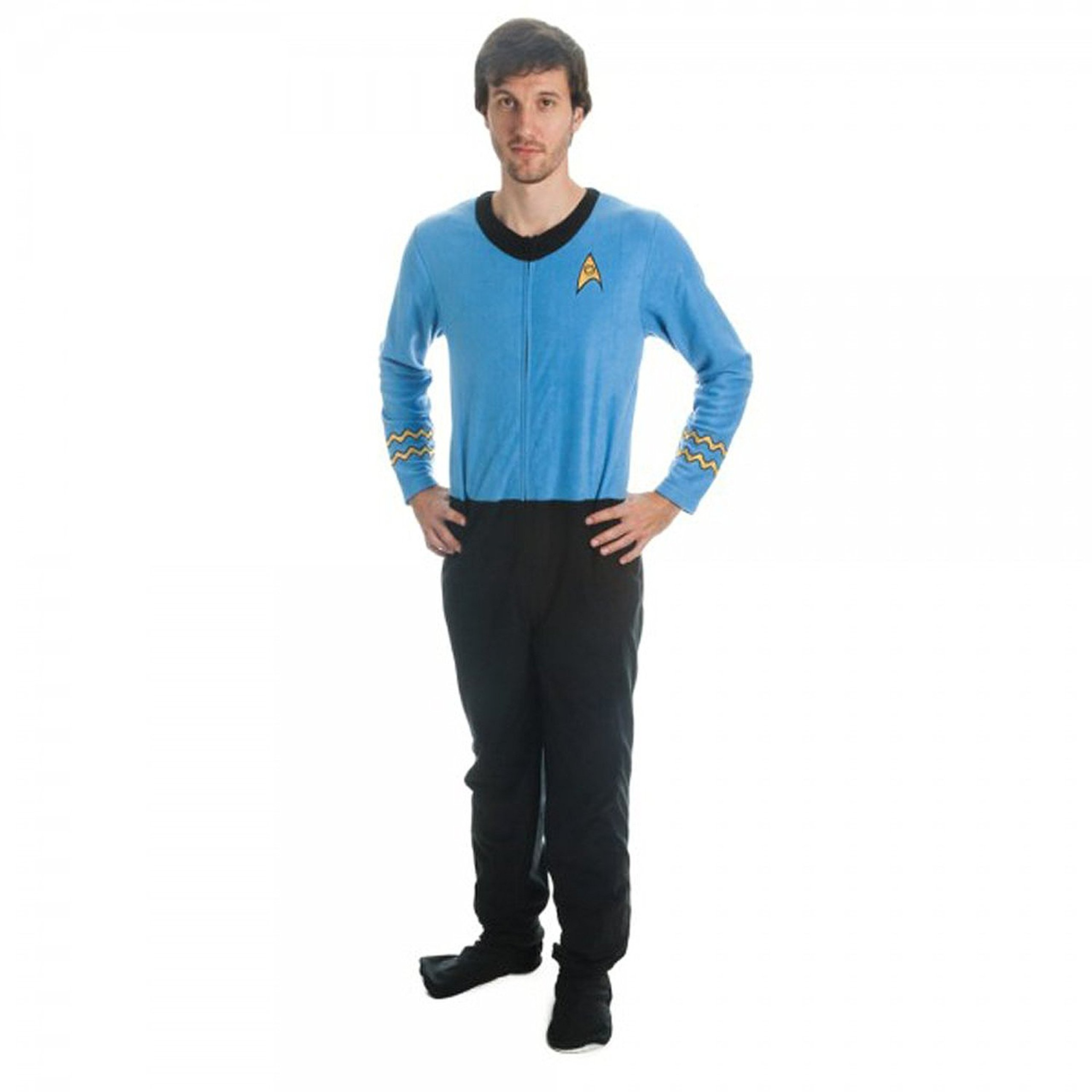 Star Trek Blue Science Union Suit Onesie Pajamas
