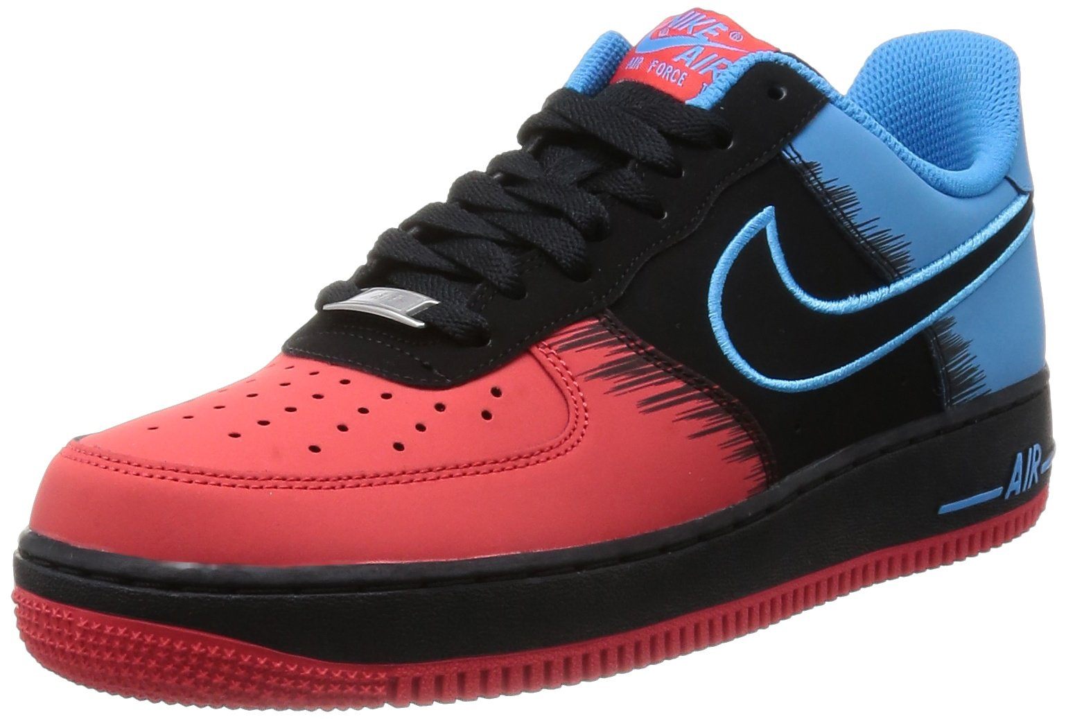Nike Air Force 1 'Spiderman' Men Sneakers LT Crimson/Vivid Blue/Black 488298-615