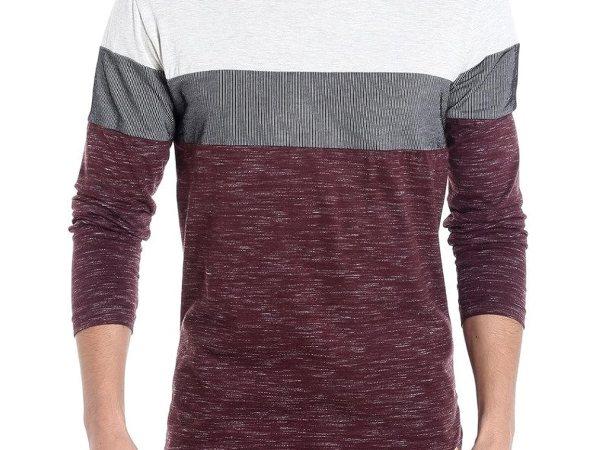 Campus Sutra Men Round Neck Tshirt