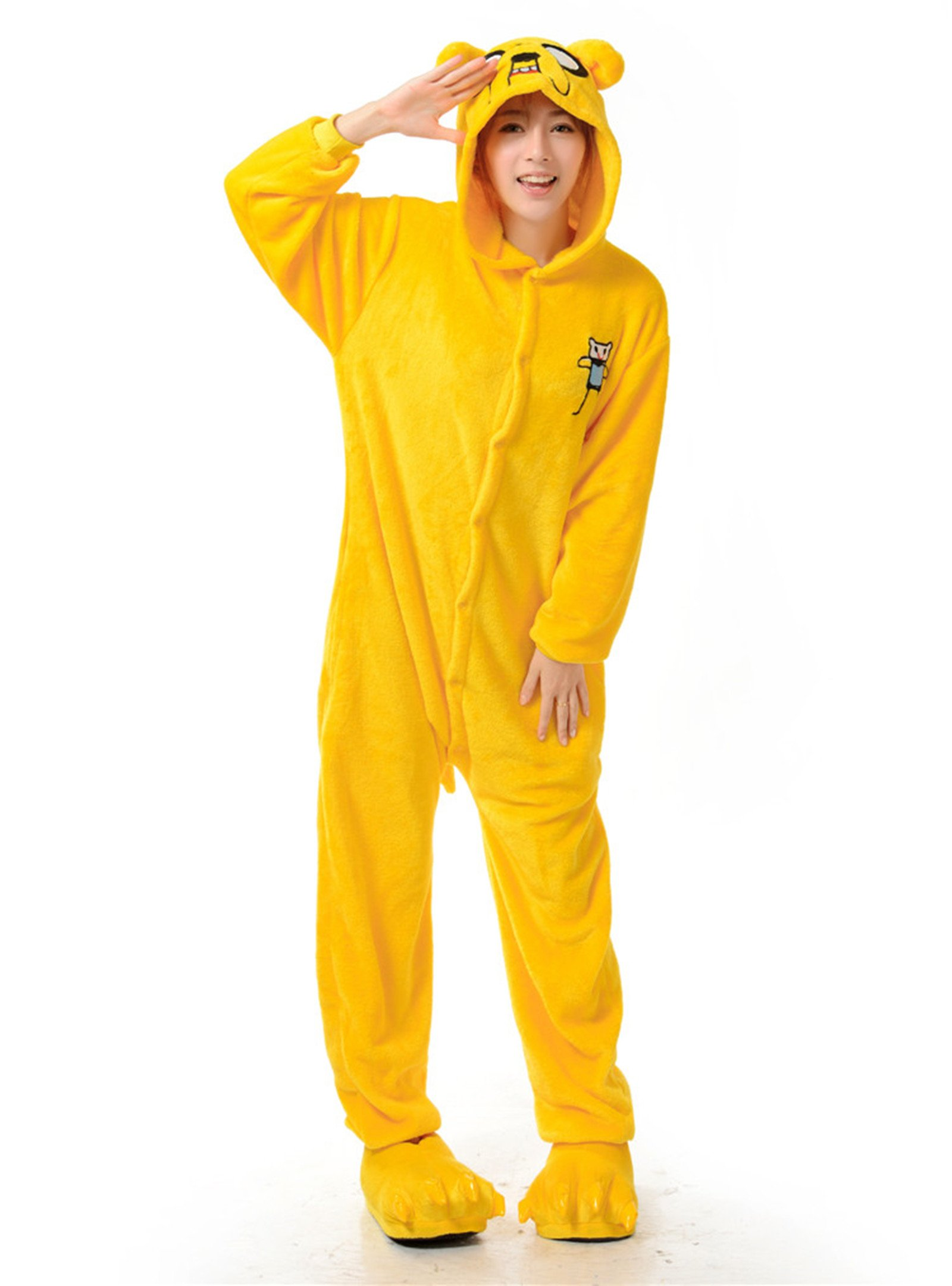 Adventure Time Jake Kigurumi Pajamas Adult Anime Cosplay Costume Onesies
