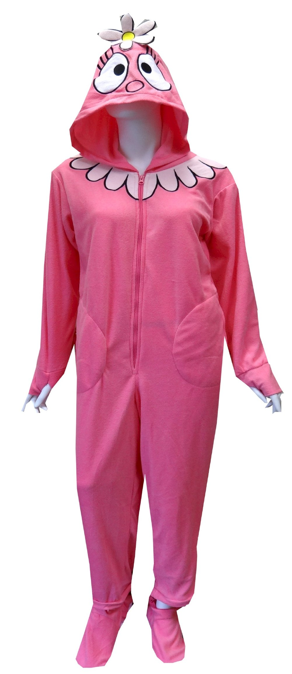 Yo Gabba Gabba Foofa Adult Footie Onesie Pajamas for women