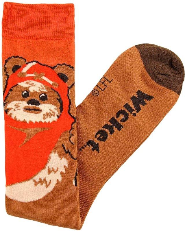Ewok Junior/Women's Socks Shoe Size 4-10 Brown