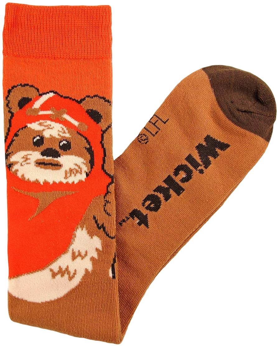 Ewok Junior/Women's Socks Shoe Size 4-10 Brown