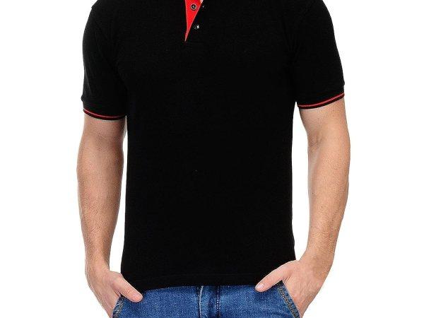 Scott Men's Premium Organic Cotton Polo T-shirt - Black