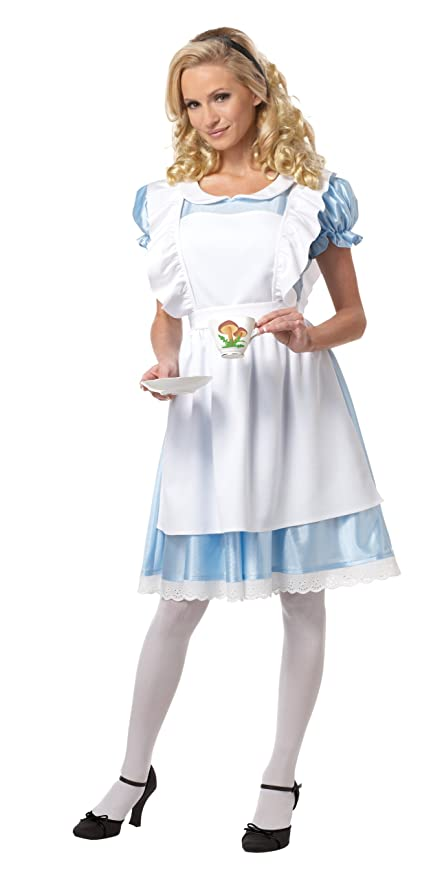 California Costumes Women's Alice Costume,White/Blue, Small