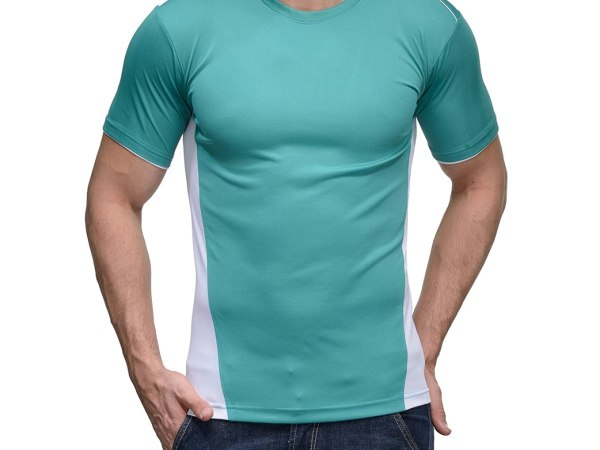 Scott Men's Jersey Round Neck Sports Dryfit T-shirt - Sea Green