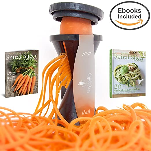 Very Healthy Spiral Slicer, Vegetable Spiralizer, Zucchini Spaghetti Pasta Maker