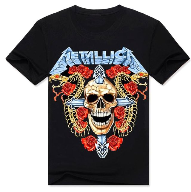 Fashion Men 3D Printed Skull T-Shirt Clothing Casual Round Neck Sport Tops