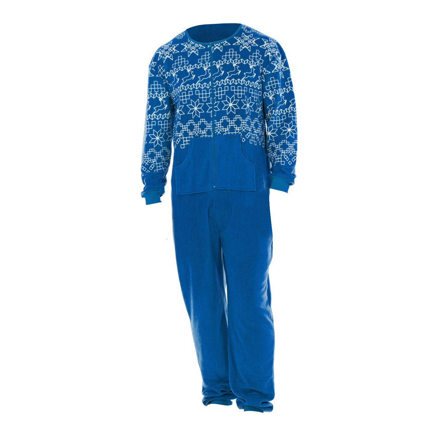 Mens Fairisle Print All In One Onesie
