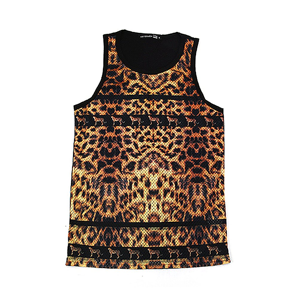 "Kayden K Men's Sublimation Tank Top ""Leopard Print"""