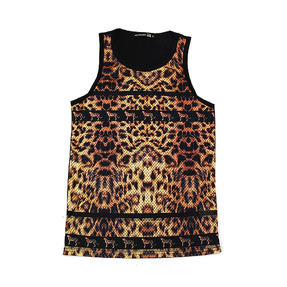 "Kayden K Men's Sublimation Tank Top ""Leopard Print"""
