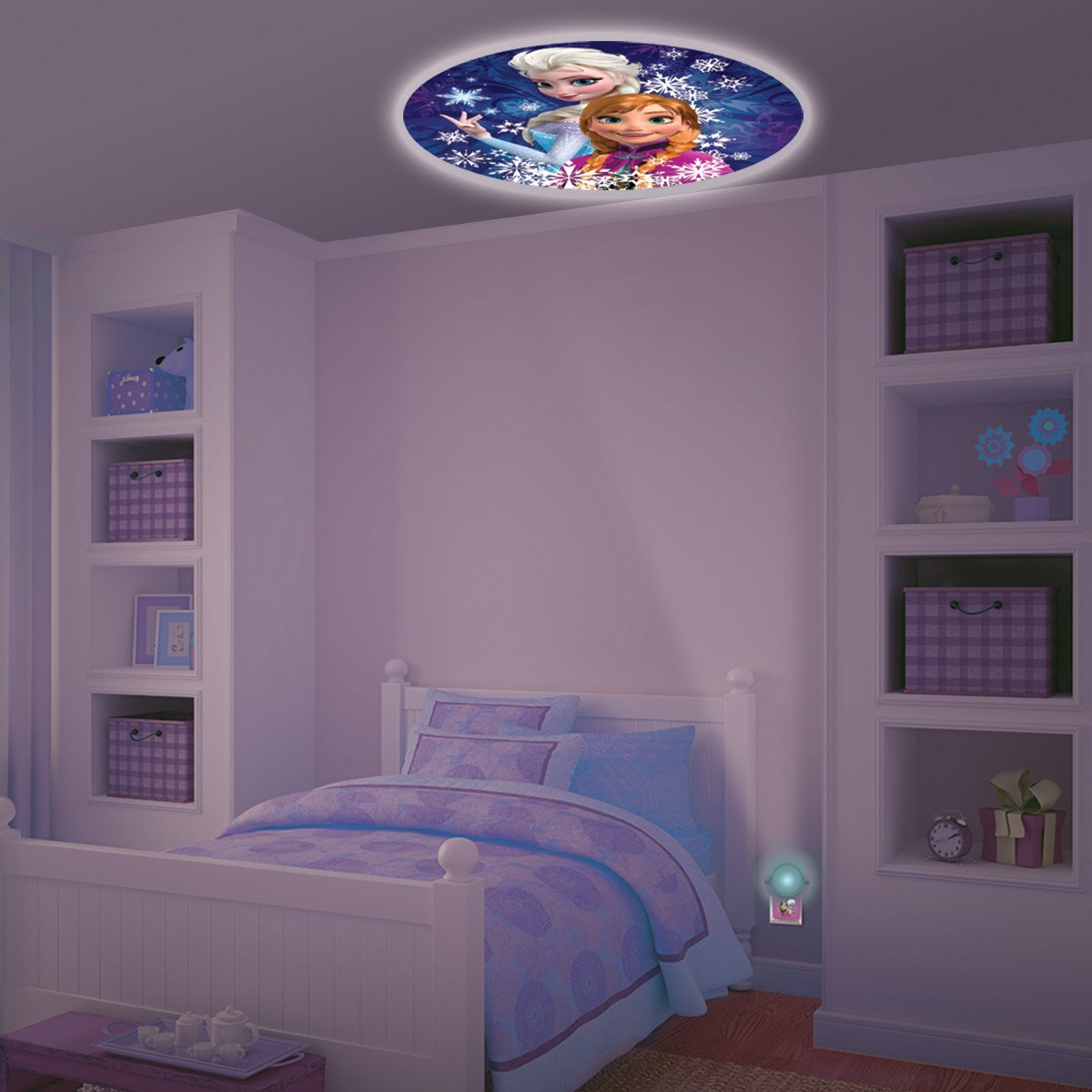 Home Kids Bedroom Disney Frozen Projectable Led Plug In