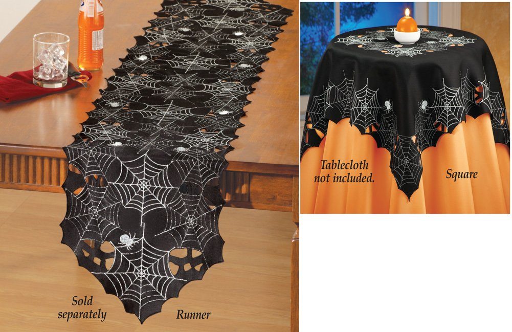 Spiderweb Table Linens Halloween Party Decoration Runner