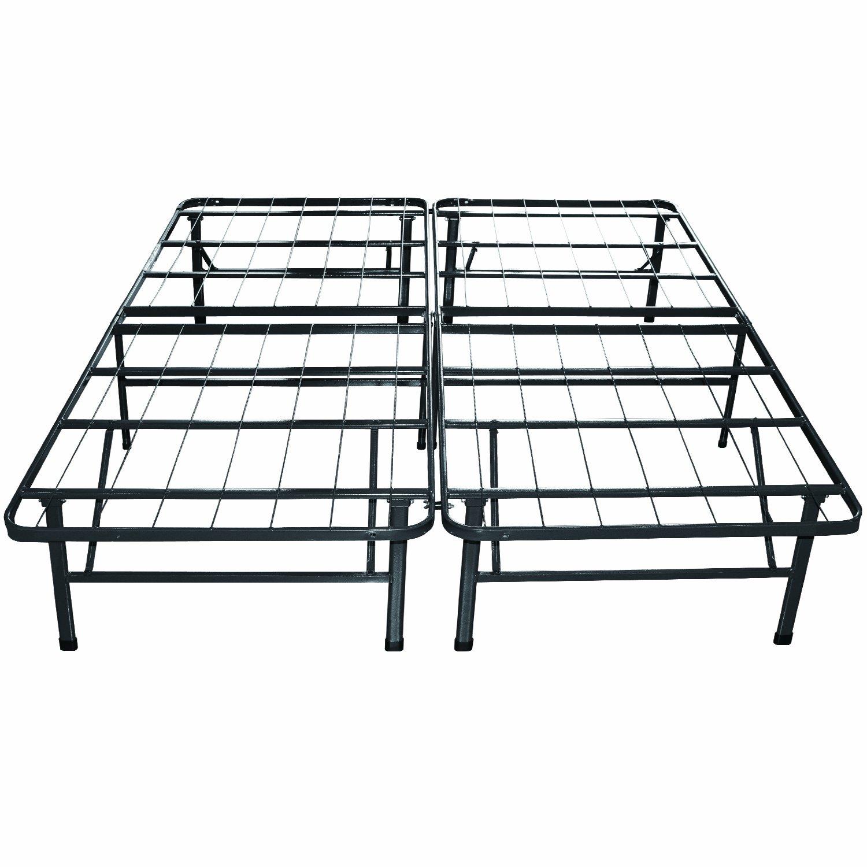 King Sleep Master Platform Metal Bed Frame Mattress