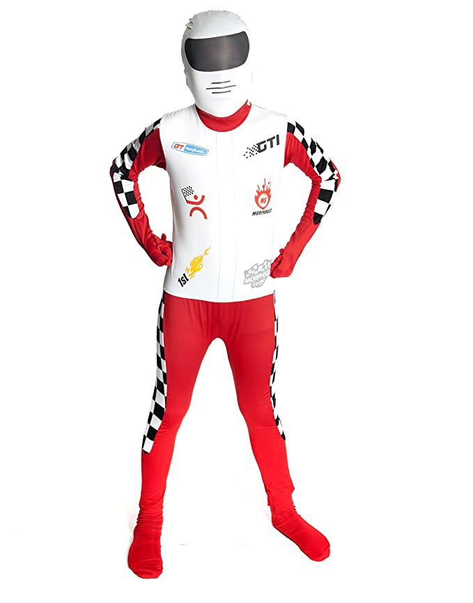 Kids Racer Morphsuits Childs Fancy Dress Costume Large 4'6 - 5' (135cm - 152cm)