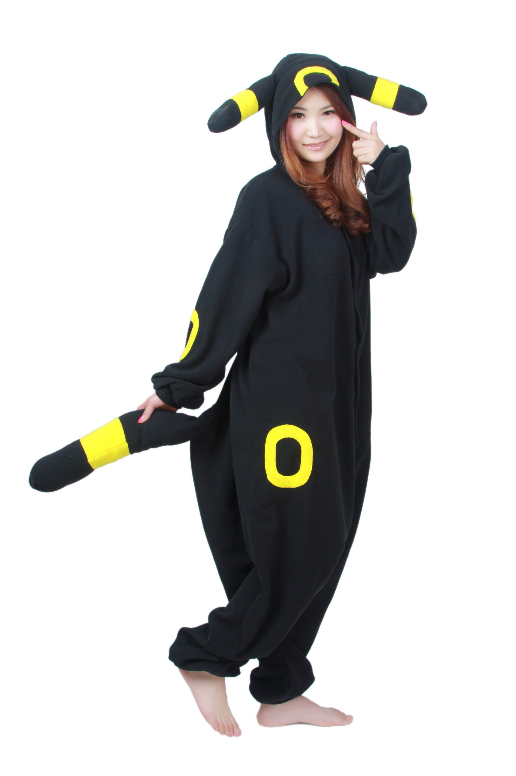 Black Pokemon Pikachu Umbreon Kigurumi - Adult Halloween Costumes Pajama (X-Large)